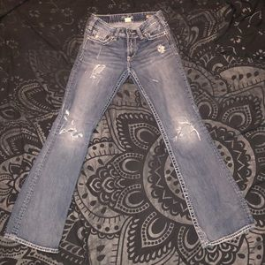 Silver Suki 27x32 medium wash destroyed bootcut